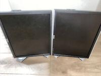 """Dell 1907FP UltraSharp 19"""" LCD Monitor 4-Port USB DVI LOT OF 2"""