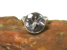 AMETHYST   Sterling  Silver  925  Gemstone  RING   -  Size  M