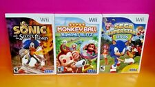 Sonic & Secret Rings Super Monkey Ball Deluxe, Sonic Tennis Nintendo Wii 3 Games