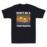Don¡¯t Be A Twatwaffle Vintage Graphic Men Short Sleeve T-Shirt Cotton Black Tee