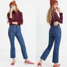 NWT Madewell Rigid Demi -Boot Crop MacGill Wash Jeans Size 25