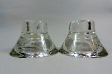 CUT GLASS CANDLESTICK/ TEA LIGHT HOLDERS (Hagberg)