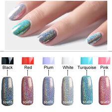 Rainbow Laser Chrome Mirror Holographic Pigment Powder Nail Art Sponge Stick