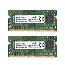 For Kingston 16GB 2x 8GB DDR3L-1600MHz Laptop Memory PC3L-12800 SODIMM Notebook