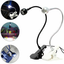 USB Flexible LED Clamp Clip On Beside Bed Table Desk Reading Study Lamp Light