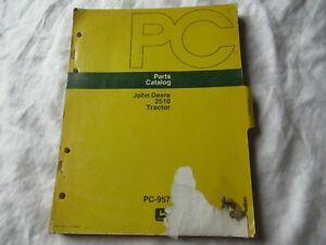 John Deere 2510 tractor parts catalog book manual