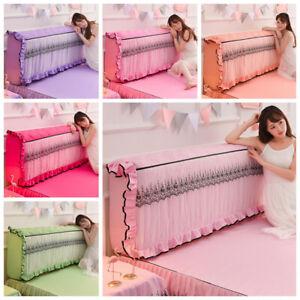 Elastic Bed Headboard Slipcover Lace Ruffle Dustproof Protector Bedding Decor