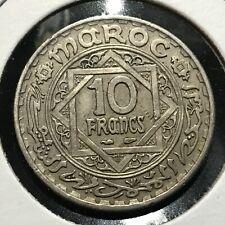 High Quality Coin FREE SHIPPING 1946 MOROCCO 10 FRANCS Morocco Bin #1
