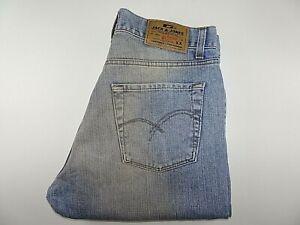 "JACK JONES Mens Jeans Blue Dirty Wash Denim Bootcut W32 L34 Waist 32"" Leg 34"""