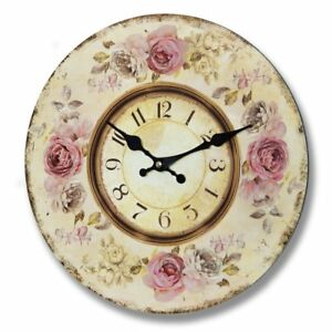 Pink Roses Clock - Style My Pad