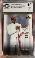 2003 Upper Deck LeBron James Rookie Card #9 Box Set BCCG 10 Mint Beckett Lakers