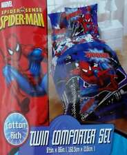 SPIDERMAN SPIDER SENSE WOOSH TWIN COMFORTER SHAM BEDSKIRT 3PC BEDDING SET NEW
