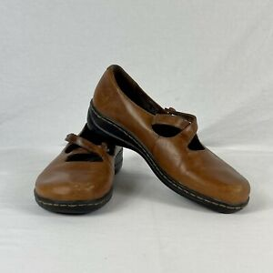 Earth Shoes Autumn Women's Brown Leather Mary Jane Shoes Gelron 2000 Size 8