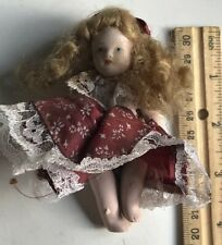 Small Bisque Doll In Lovely Dress
