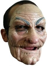 Old Man Scary Face Realistic Mask Two Parts Washable Latex Halloween Costume