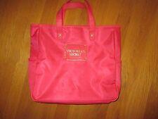 Victoria's Secret Pink Vinyl Tote Beach Gym Weekender Bag Purse Side Pockets