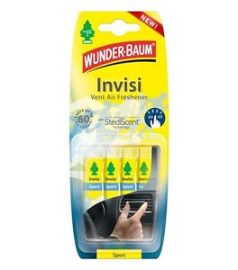 WUNDER-BAUM INVISI Invisible Discreet Car Vent Air Freshener Fragrance