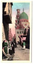 R! LEHNERT & LANDROCK Blaue Moschee in Kairo * Vintage 20s Foto-AK Handkoloriert