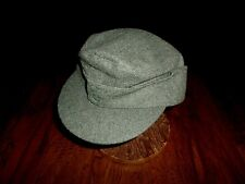 New Reproduction German M-43 Army Hat Green Wool Blend Cap Size 61 Metric Large