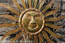 colgante de Pared Sol Oro Decoración metal Cuadro Mural Objeto para Sun