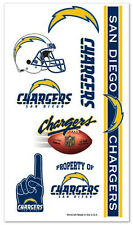 San Diego Chargers Temporary Tattoos 10 Pack [NEW] NFL Face Decal Stickers CDG