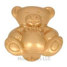 Teddy Bear Knobs Hardware Cabinet Pulls Brass Child Kid Furniture