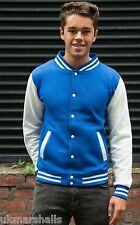 "Varsity Letterman Jacket 12 Great Colours 34"" - 52"" Chest New College Baseball"