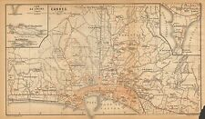 1902 ANTIQUE TOWN PLAN -FRANCE- CANNES