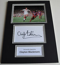 Clayton Blackmore Signed Autograph A4 photo display Manchester United AFTAL COA