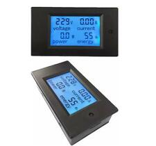 Digital LCD Monitor Energy Ammeter Voltmeter AC 20A Volt Amp meter Watt Power