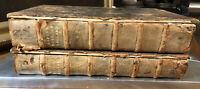 """Rare Antique Books: """"History Of England"""" By Rapin De Thoyras Vol I & II- 1736"""