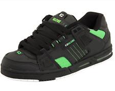 Globe Sabre Da uomo UK 9.5 EU 44 Nero/Verde Moto In Pelle Scarpe Da Ginnastica Da Skate Shoes