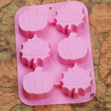 Pumpkin Leaves Cake Mold Floral Flexible Silicone Mould For Candy Chocolate Soap