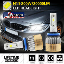 Lumileds H11 H9 H8 LED Headlight Bulb Kit Low Beam Fog Light 200W 6000K 20000LM