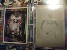 Ray Lewis Impeccable lot 1/50 and printing Plate 2019  Ravens ebay 1/1 Miami U
