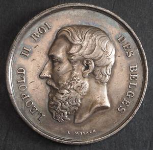1867, Belgium, Liege (City). Silver Fine Arts Medal. Awarded to Oscar Berchmans!