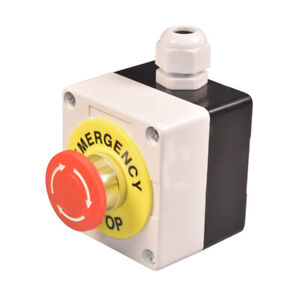 Emergency Stop Push Button Safety Switch Twist to Release Mushroom IP65