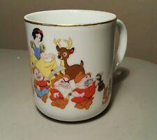 Vintage Disney Walt Disney World Snow White 7 Dwarfs Coffee Mug Cup Japan