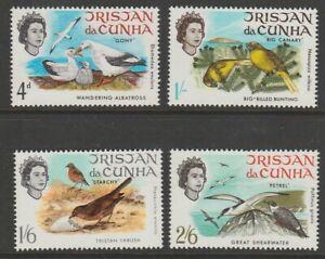 Tristan da Cunha MINT 1968 Birds sg113-116 MNH
