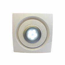 """Bathroom Kitchen Ceiling Extractor Exhaust Fan with LED Light 100mm 4"""" LED1020"""