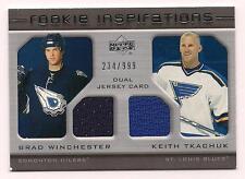 2005 Rookie Update Dual Jersey Tkachuk Blues/Rookie Winchester Oilers #234/999