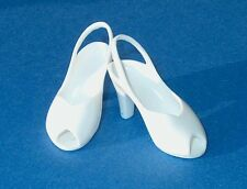 Franklin Mint White Lucy 40-50s Peeptoe pumps shoes fit 15-16in doll Ellowyne