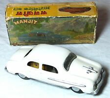BOXED TIN TOY CLOCKWORK MANJIT AUTOMATIC CAR AMAR TOY DELHI INDIA C1960s