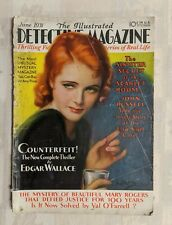 June 1931 The Illustrated Detective Magazine Murder Thriller Rare F-G Condition