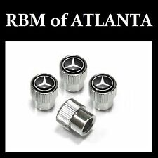 Genuine Mercedes Benz MB Star Valve Stem Caps - Black