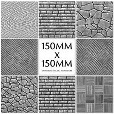 Marble Stone Slate Tile Stickers Kitchen Transfers Black Grey 150mm - M34
