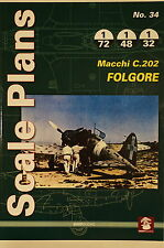 Scale Plans No.34 Macchi C.202 Folgore 1:72 1:48 1:32 Reference Book