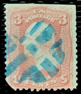 1861 US Stamps SC#65 3c Washington used