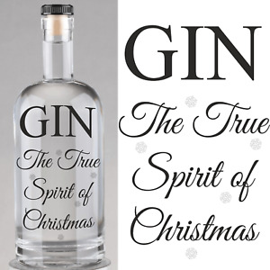 Gin the Spirit Of Christmas Bottle Labels Beer bottle labels Home Brew