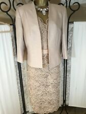 Stunning Jacques Vert Dress & Jacket Size 16